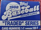 1988 Topps Traded Set New Grace Alomar Buhner Abbott Nagy Free Shipping
