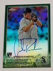 2015 Topps Chrome Carlos Rodon auto autograph green refractor 99 RC No Hitter