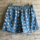 Polonio Blue Coconut Scooter Vespa Moped Swim Trunks Mesh Lining Shorts Size L
