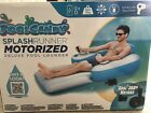 Motorized Inflatable Lounger Pool Lake Chair Float Lounge w motor
