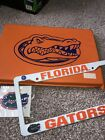 Florida Gators License Plate Frame NEW NCAA Seat Cushion Decal Lot Of 3 Items