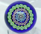 Rare Scotia of Scotland Manson Concentric Circles on Blue Paperweight Free Ship