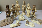 Hand Carved Olive Wood 11 Piece Nativity Set 45 55 Tall