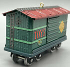 New Hallmark Ornament Yuletide Central Toy Car #4 series Colorful Pressed Tin