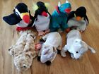 Ty Beanie Babies lot of 7 Slick Hornsly Fins Puffer Goatee Waddle Frigid