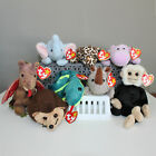 Set of 8 Jungle Beanie Babies (Scorch, Freckles, Happy, Spike, Mooch, Peanut...)