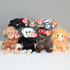MINT Jungle Beanie Babies (Set of 7 - Bongo, Bushy, Freckles, Cheeks, Velvet...)