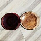 2 Used Dinner Plates  Plum and Copper  Fire and Light Recycled Glass