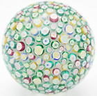 MAGNUM Sized JOHN DEACONS Millefiori CLICHY ROSE on LACE Art Glass PAPERWEIGHT