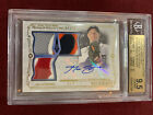 Max Scherzer 2015 Topps Museum Collection Gold Triple Patch Auto 7 25 BGS 9.5