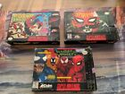 SPIDER-MAN, 3 BOX ONLY LOT SUPER SNES! AUTHENTIC! Separation Anxiety X-Men