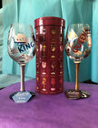 Lolita Love My Wine Glass KING  QUEEN Set of Two Hand Painted