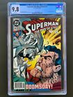 Superman: The Man of Steel 19 CGC 9.8 Newsstand White Pages Rare HTF Doomsday