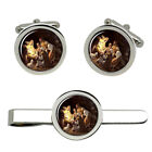 The Nativity Christian Cufflinks and Tie Clip Set