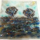 Mystery Artist Fused Glass Dish Signed