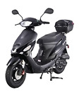 BRAND NEW Model ATM 50 Gas 49cc 50cc Street Legal Moped Scooter Matching Trunk
