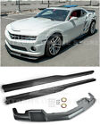 For 10 13 Camaro SS  EOS ZL1 Style ABS Plastic Front Lip Splitter  Side Skirts