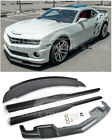For 10 13 Camaro SS  ZL1 Style Front Lip Side Skirts  Rear Wickerbill Spoiler