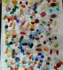 Huge Lot Of 95 Blown Glass Candies As Well As 3 Hulet Kisses Must See