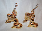 Charming Vintage 2 dept 56 Gold Winged Angel collectable  Figurines