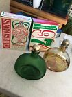 4 vintage Wheaton Christmas glass bottle decanters from 1971 1972 1973 1974
