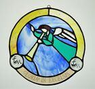 8 Stained Glass Hanging Suncatcher Angel Gloria in Excelsis