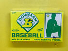 2021 Bowman X Keith Shore WAVE 1 1989 Exclusive Unopened Box - 10 Cards Trout