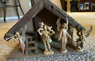Depose Italy Fontanini vintage Nativity set And Stable 5 pieces