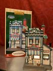 2008 LEMAX Snow Village PEARL'S ICE CREAM PARLOR Light Up PLYMOUTH CORNERS