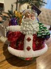 """Christopher Radko 6.5"""" Large Double Sided Ornament  A Festive Pair"""