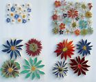 Small  Large Colorful Flowers Variations Broken China Mosaic Tiles