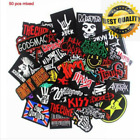 50 pcs of Embroidered Sew Badge Iron Patch On Rock Punk Band Metal Music Logo RC