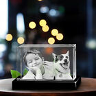 3D Crystal Photo Brick Custom Personalized Laser Etched  Engraved Glass Gifts