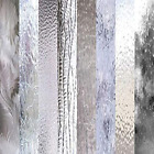 CLEAR TEXTURED Glass Variety 6 x 8 Pack 8 Sheets Stained Glass