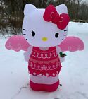 Rare 2014 Gemmy Hello Kitty Angel Airblown Inflatable Lights Up Christmas w Box