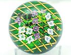 Beautiful Perthshire 1992c Annual Ltd Ed Clematis on Trellis Paperweight