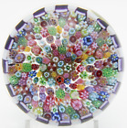Magnificent PARABELLE Stave Basket MILLEFIORI CANES Art Glass PAPERWEIGHT