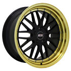 20X85 5X11430 STR601 GLOSS BLACK GOLD LIP MADE FOR JEEP PROSPECTOR