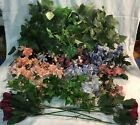 Home Interiors Lot Silk Flowers Candle Rings Greenery