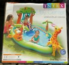 Intex Jungle Play Center Inflatable Kiddie Pool With Sprayer