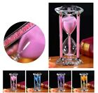 Crystal Hourglass Heart Shape Base Colored Sand Sturdy for Indoor Games Decor
