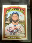 2021 Topps Heritage Alex Gordon Real One SP Auto #23 72 (Red Ink)