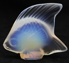 LALIQUE Crystal France Opalescent ANGEL FISH Art Glass Sculpture in BOX