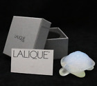 LALIQUE France Opalescent TURTLE Art Glass PAPERWEIGHT Sculpture in BOX