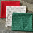 Vintage Christmas Fabric Holly and Dashes 3+yards Cotton Bundle