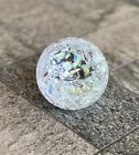 Glass Eye Studio GES Signed Ice Storm Clear Glass Paperweight