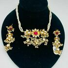 Indian Traditional Antique style jewelry set NEW WITH TAGS