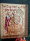 GIVE THANKS with turkey by BLACKBIRD DESIGNS cross stitch  OOP 2002 OOP