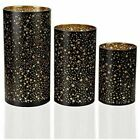 Glass Candle Holders Set of 3 Home Decor Votive Candles Holder 468 Inch Star