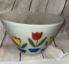 Fire King Oven Ware Tulip Pattern 95 Nesting Mixing Bowl Glass SOME FADING